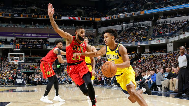 Indiana Pacers against Atlanta Hawks in the NBA