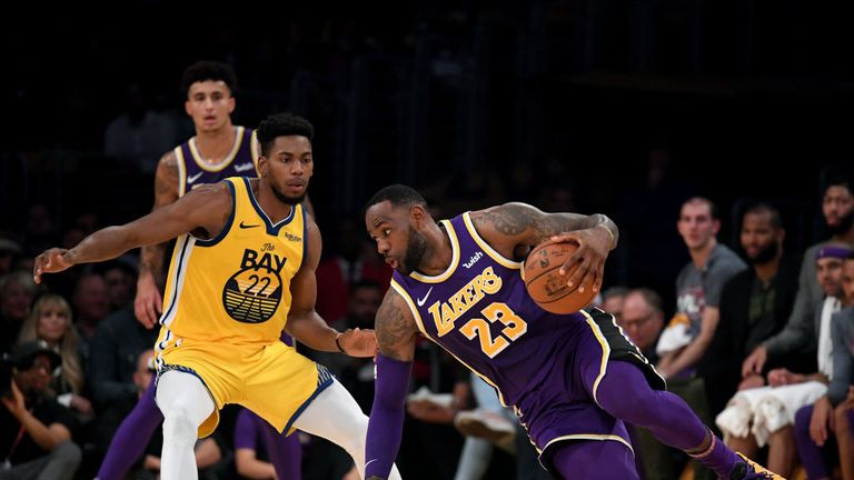 Golden State Warriors against Los Angeles Lakers in the NBA