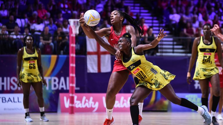 England and Jamaica are two of the sides taking to court for the Vitality Nations Cup in January