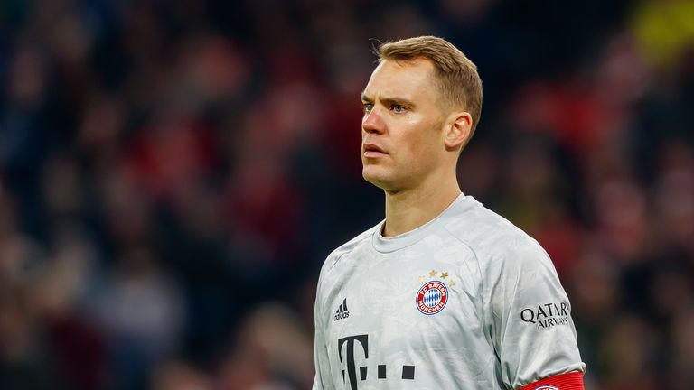 Germany goalkeeper Manuel Neuer was tight-lipped when asked about a potential return to Bayern Munich for Pep Guardiola