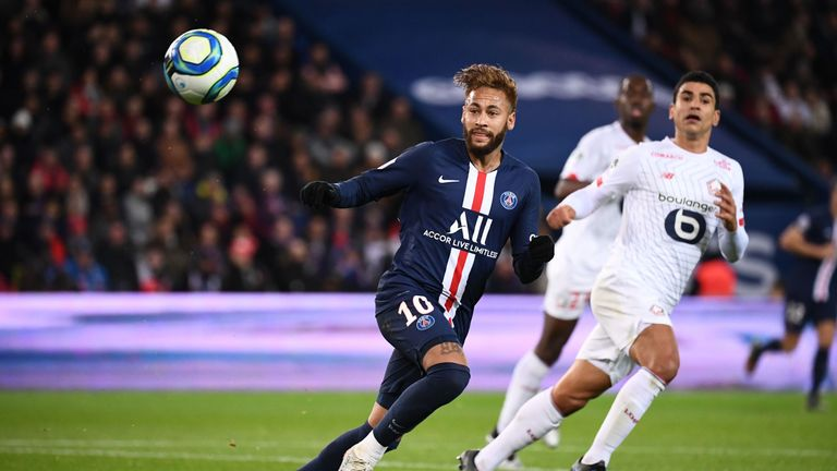 Neymar returned to action for PSG as they beat Lille