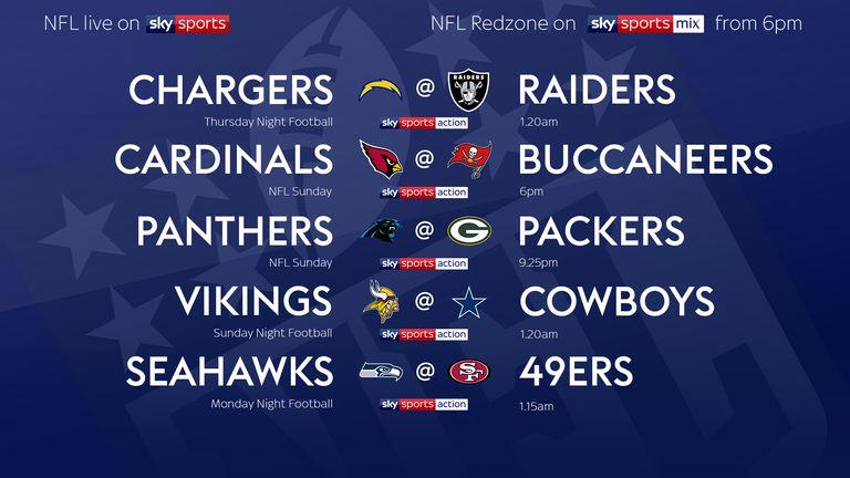 Your NFL Week 10 fixtures!