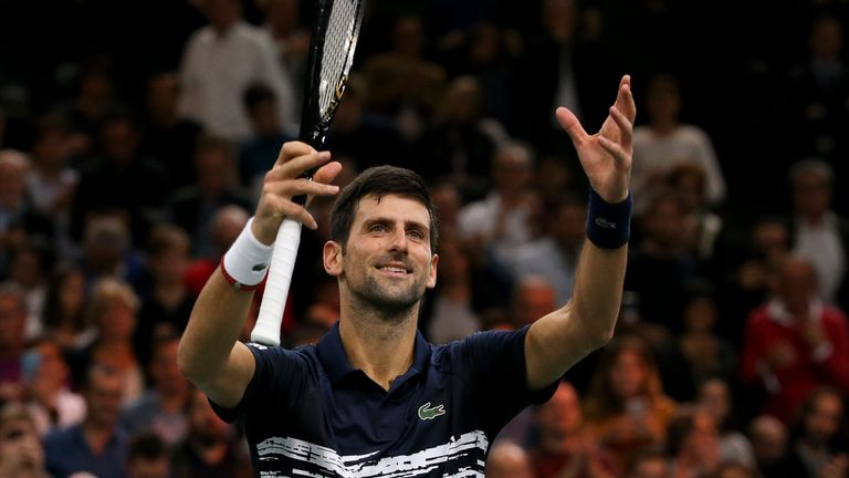Novak Djokovic made it through to his sixth Paris final and his 50th ATP Masters 1000 championship match