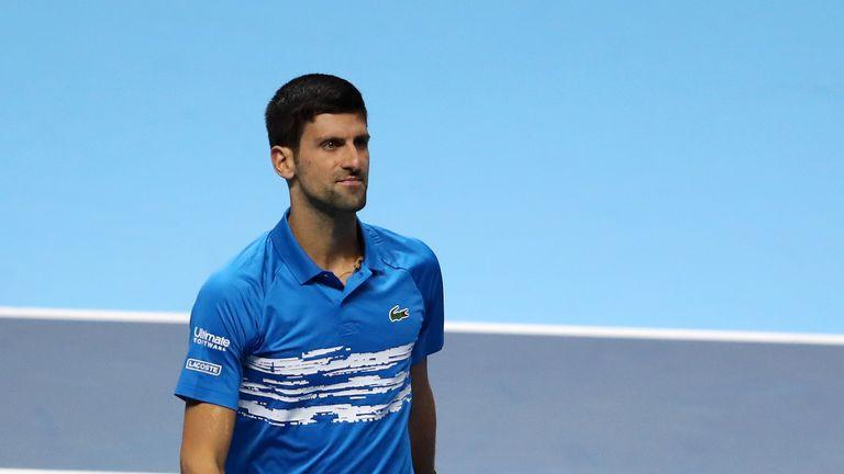 Atp Finals Novak Djokovic Allays Elbow Injury Concerns After Roger Federer Defeat Tennis News Sky Sports