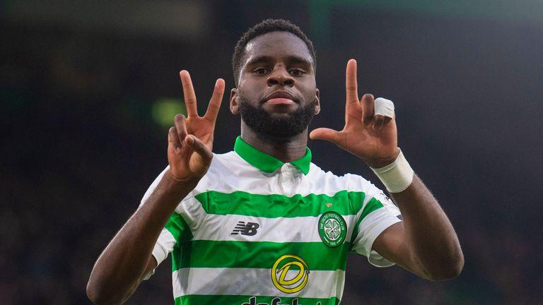 Celtic's Odsonne Edouard makes it 1-0 against Livingston