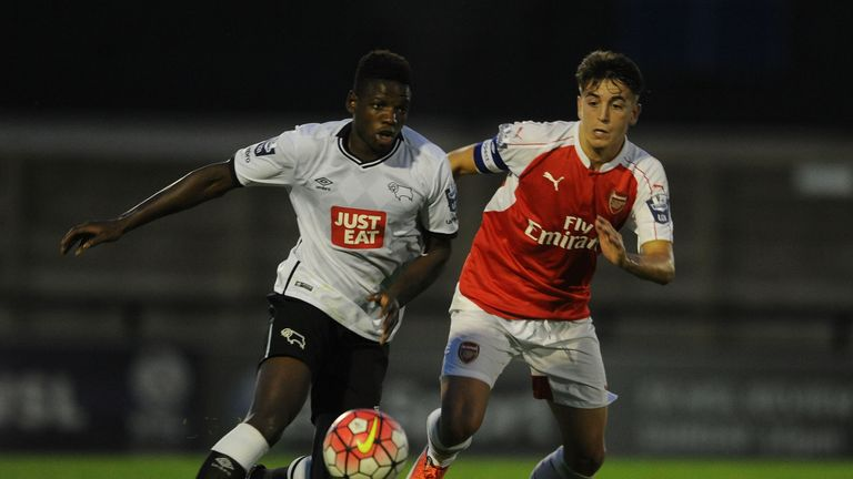 Zanzala was in the youth system at Derby County