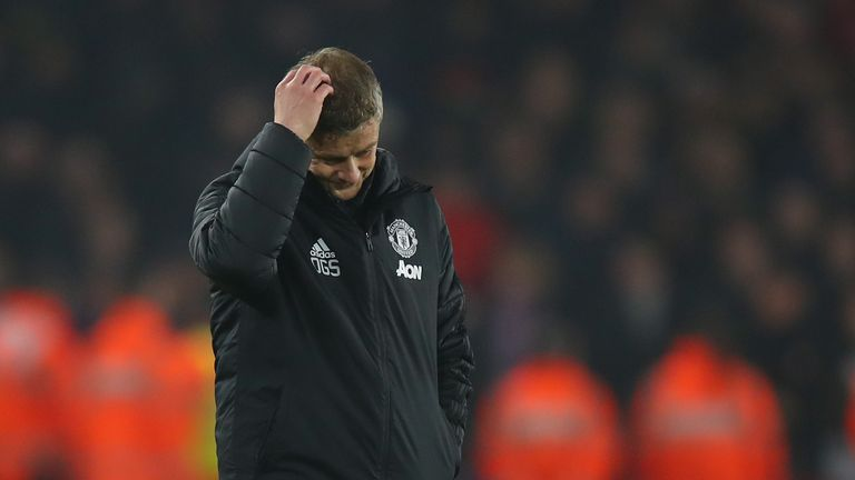 Ole Gunnar Solskjaer saw his team struggle badly against Sheffield United