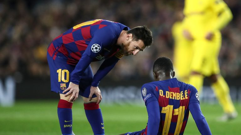 Ousmane Dembele has suffered a series of injuries since his £97m move