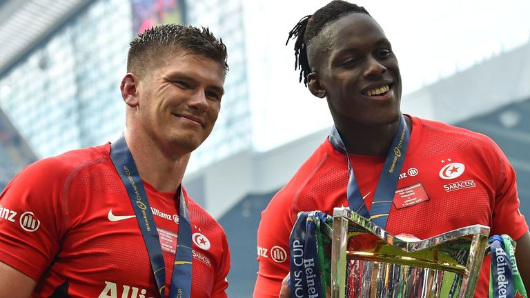 Owen Farrell and Maro Itoje are among several England internationals in Saracens' squad