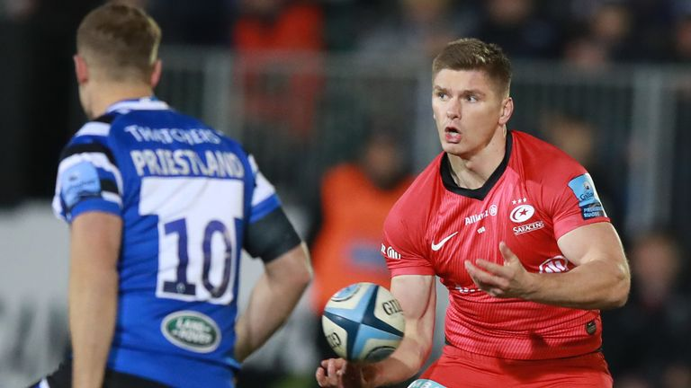 Owen Farrell kicked 20 points on his return to club action