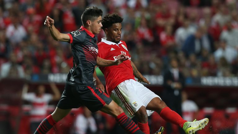 Neto making an appearance for Braga against Benfica in 2017