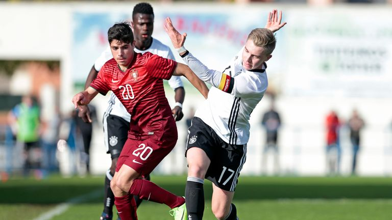 Neto in action for Portugal's U17 side at the Algarve Cup back in 2017