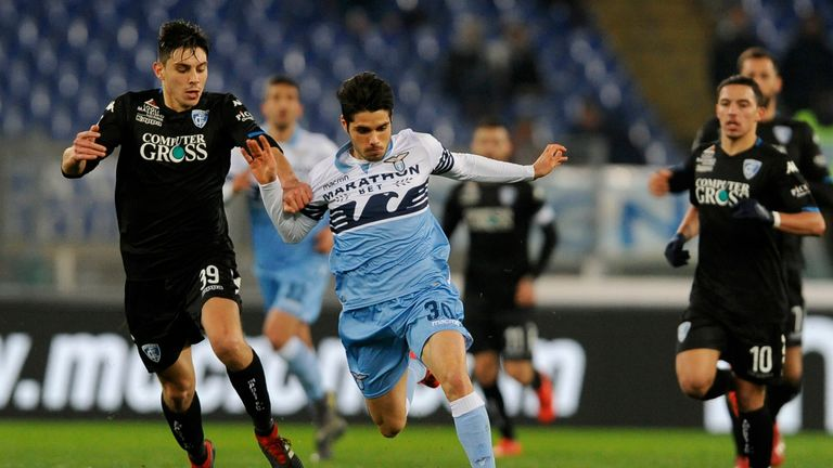 Neto making a rare appearance for Lazio against Empoli last season