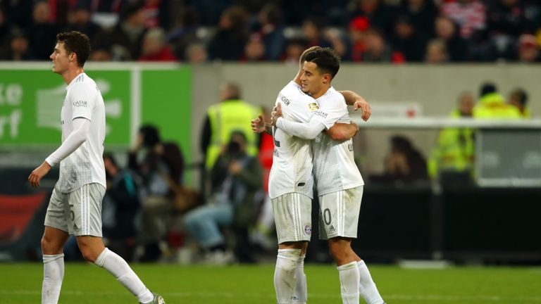Under-fire Philippe Coutinho scored Bayern Munich's fourth goal