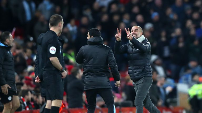 Guardiola felt there were two moments when his side could have been awarded a penalty