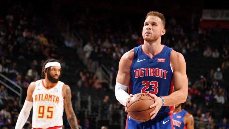 Atlanta Hawks against Detroit Pistons in the NBA