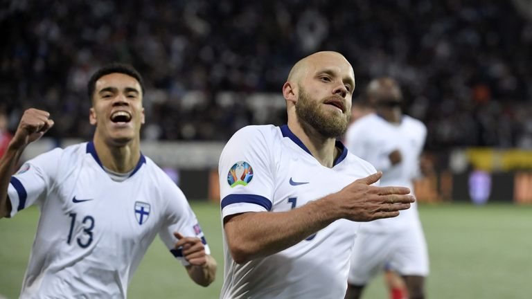 Teemu Pukki scored twice as Finland beat Liechtenstein to qualify for Euro 2020 - the first time they have ever reached a major tournament finals