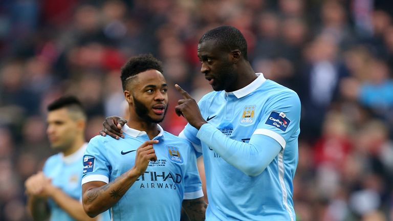 Yaya Toure and Raheem Sterling during their time together at Manchester City
