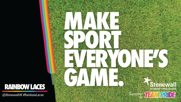 Rainbow Laces campaign logo 2019, Sky Sports