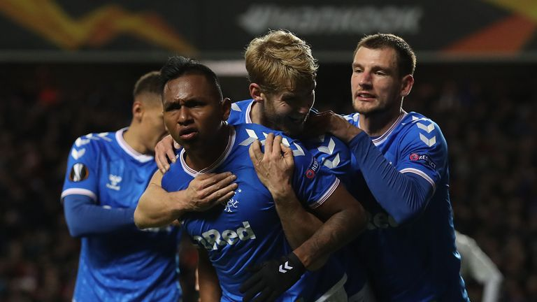 Rangers scored twice to upset Porto at Ibrox in the Europa League