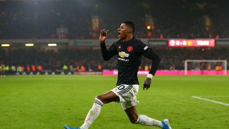 Marcus Rashford scored United's third to complete the comeback