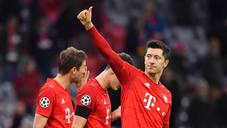 Robert Lewandowski continued his excellent form for Bayern Munich against Club Brugge.