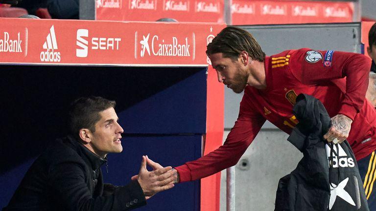 Robert Moreno with Sergio Ramos