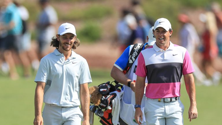 McIlroy went out in the penultimate group alongside Fleetwood