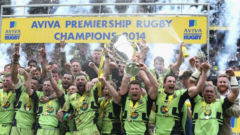 Hartley also lifted the Premiership trophy in 2014 with Northampton