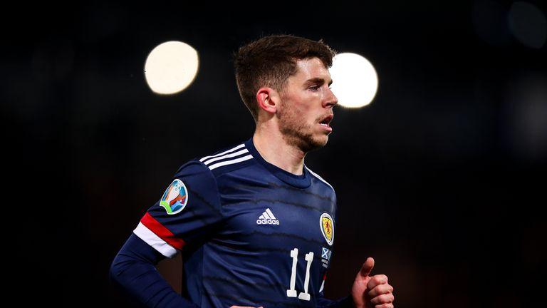 Scotland midfielder Ryan Christie in action against Kazakhstan.