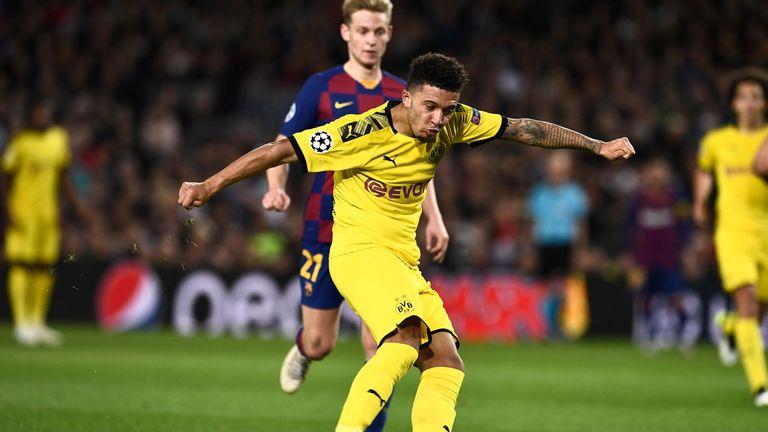 Jadon Sancho scored Dortmund's consolation