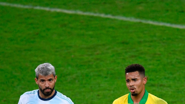 Aguero and Jesus last played against each other in the Copa America semi-finals