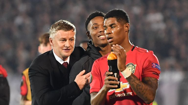 Manchester United manager Ole Gunnar Solskjaer believes Anthony Martial has helped Marcus Rashford's return to form.