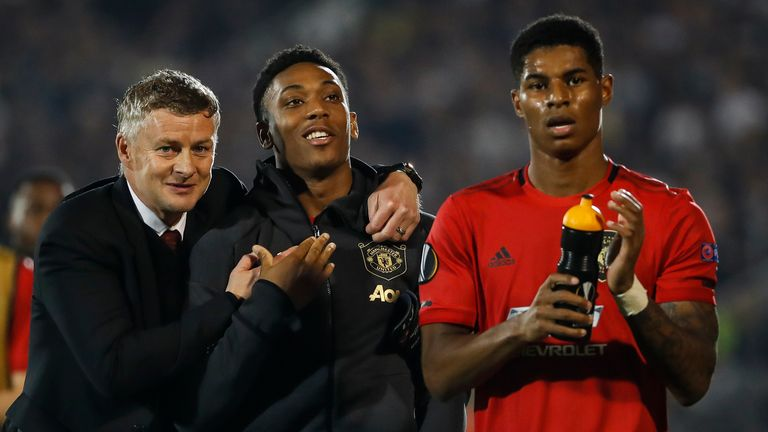Ole Gunnar Solskjaer says Anthony Martial's attitude is 'rubbing off' on his team-mates