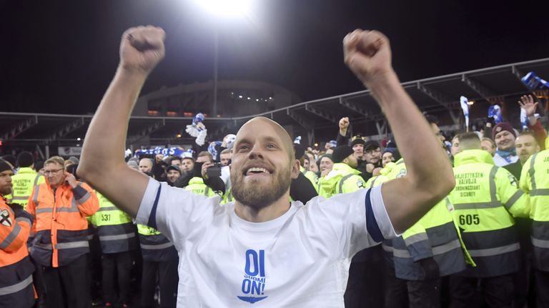 Teemu Pukki led the celebrations as Finland sealed their qualification