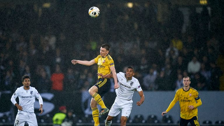 Tierney made just his seventh appearance of the season against Vitoria on Wednesday