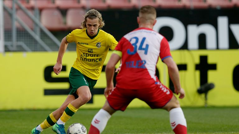 Todd Cantwell in action for Fortuna Sittard