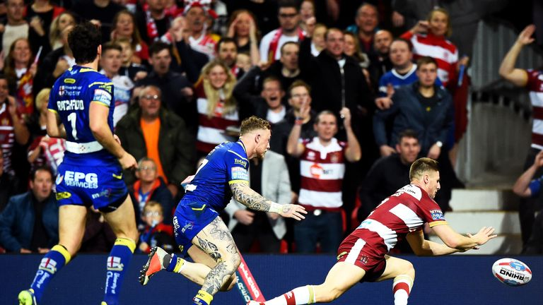 Davies scored for Wigan Warriors in the Grand Final against Warrington Wolves in October 2018