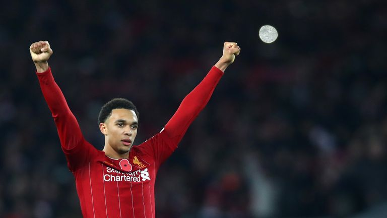 Trent Alexander-Arnold was fortunate not to be penalised for handball