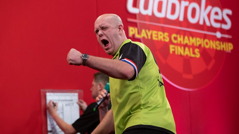 Van Gerwen enjoyed the perfect preparation for Alexandra Palace by claiming yet another major title