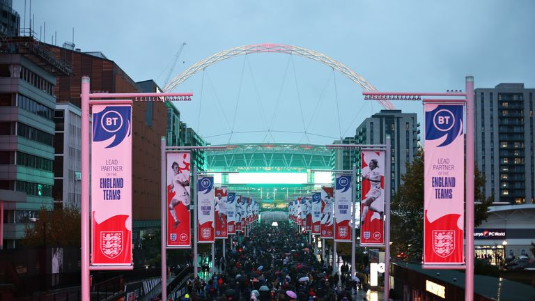 Wembley will host all of England's group games, as well as both semi-finals and the final