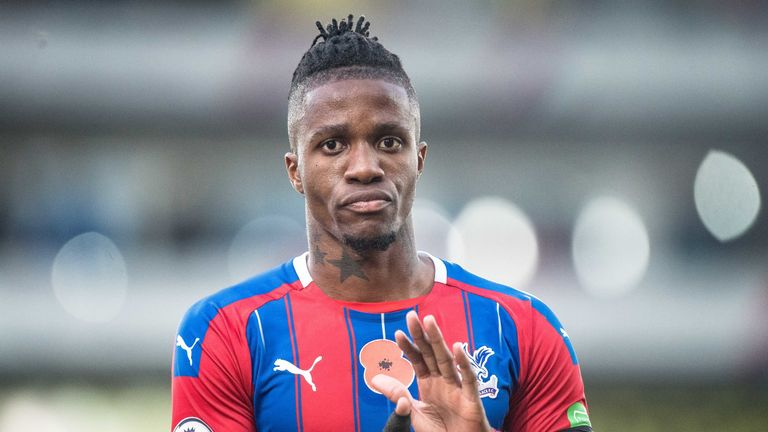 Wilfried Zaha has shaken off a hamstring concern to be passed fit
