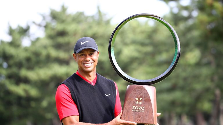 Woods says he decided to play after victory in Japan