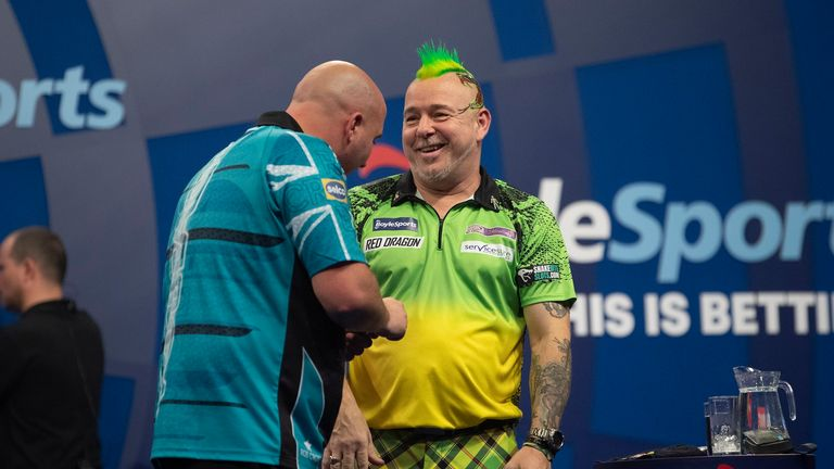 Peter Wright continued his quest for another major title with a resounding 10-3 win over second seed  Rob Cross