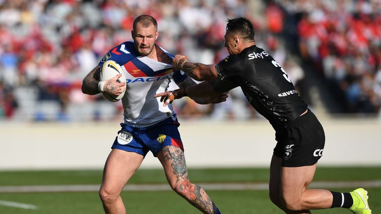 Zak Hardaker was due to play on the wing for Great Britain in Christchurch