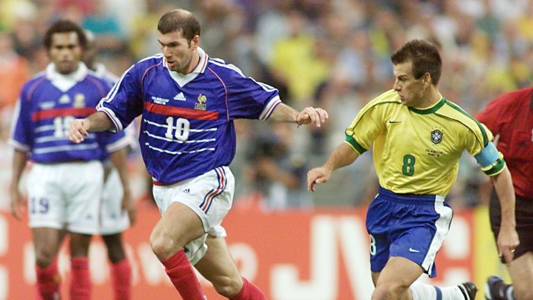 Zinedine Zidane lit up the 1998 World Cup final for France against Brazil