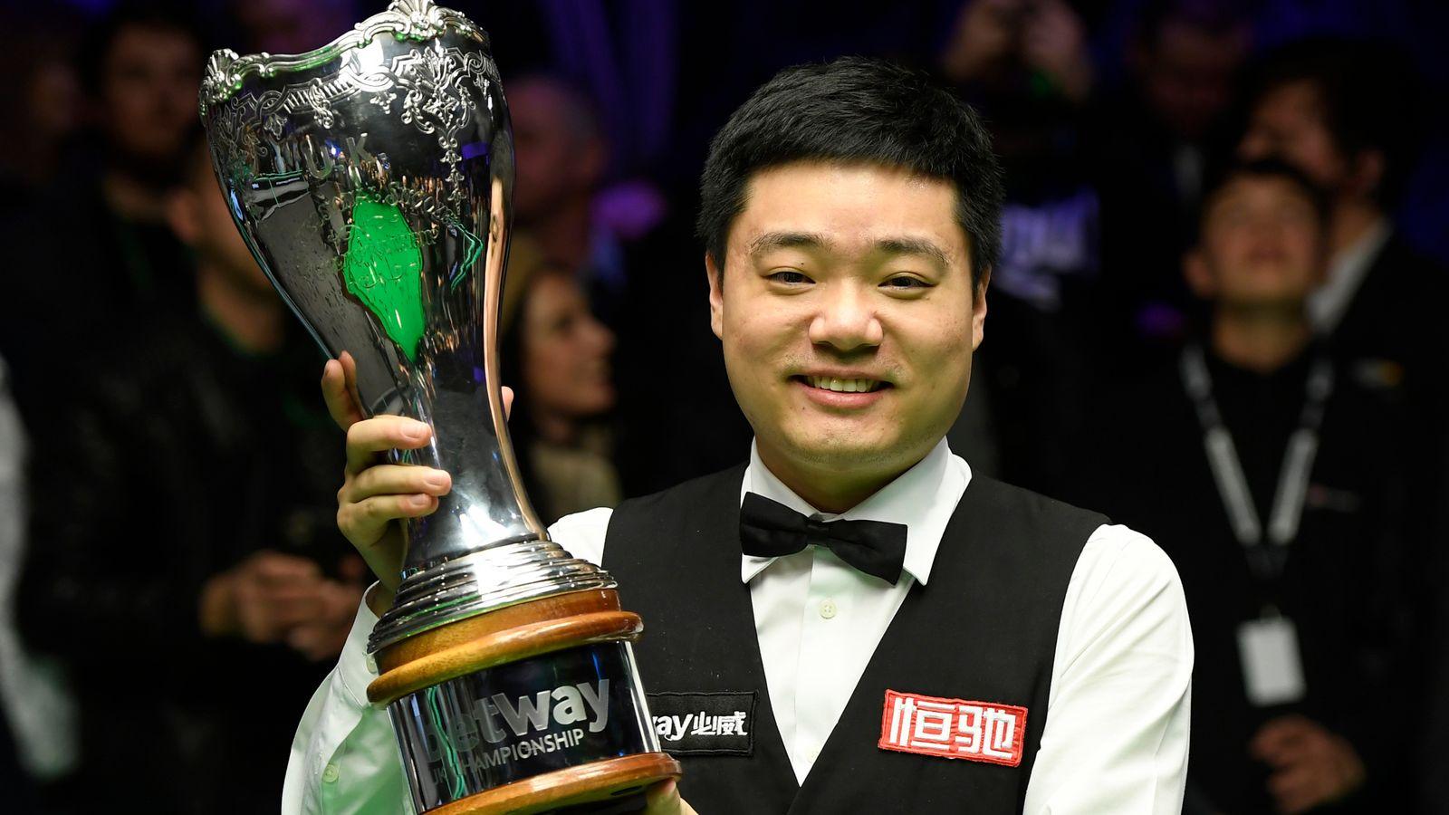 Ding Junhui defeats Stephen Maguire to win UK Snooker Championship