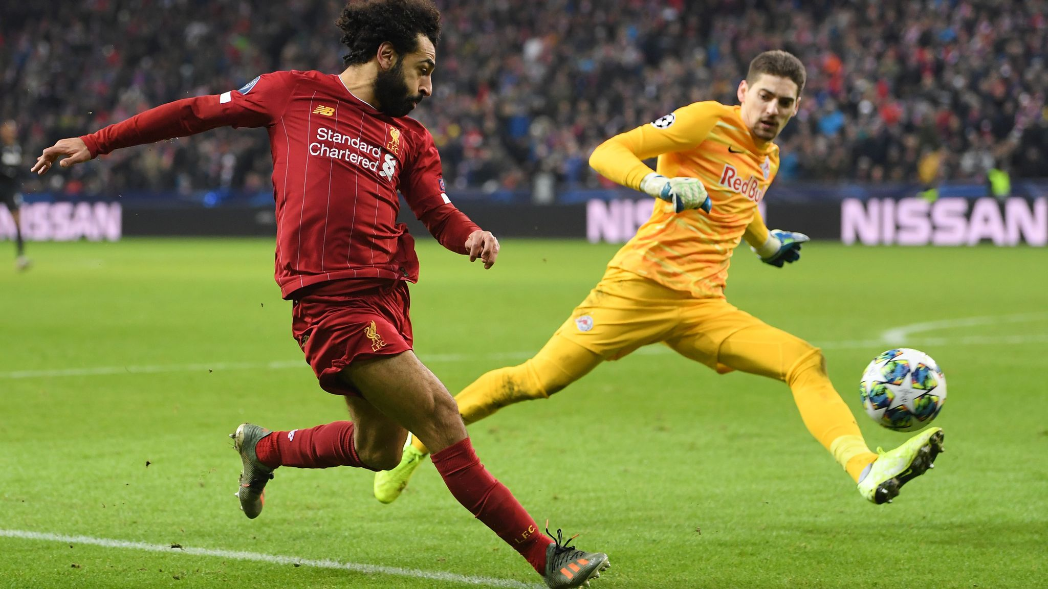 Red Bull Salzburg 0-2 Liverpool: Naby Keita and Mohamed Salah score to seal top spot in Group E