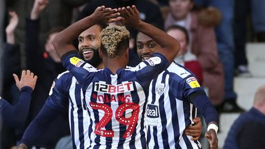 West Bromwich Albion's Semi Ajayi (right) celebrates scoring against Swansea