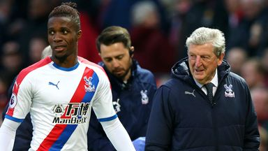 fifa live scores - Wilfried Zaha: Roy Hodgson says winger must be prepared to stay